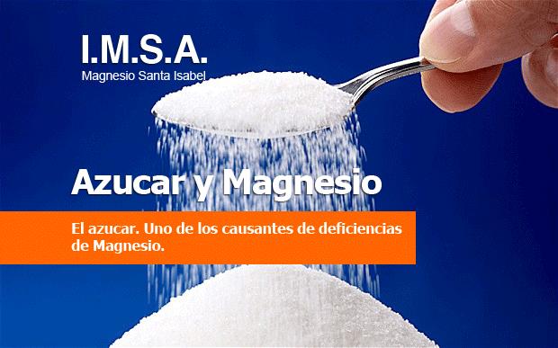 Azúcar y deficiencias de magnesio