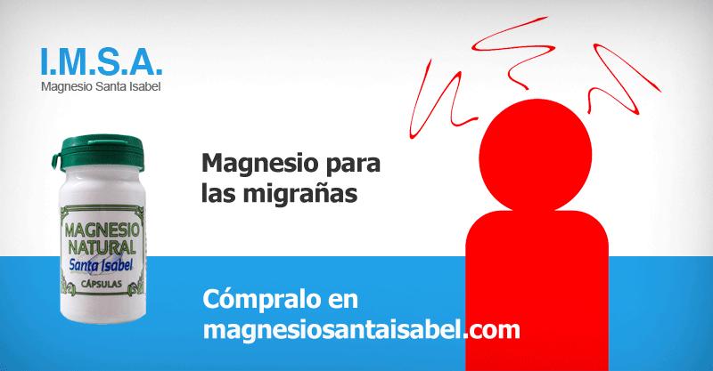 Magnesio para migrañas y dolor de cabeza