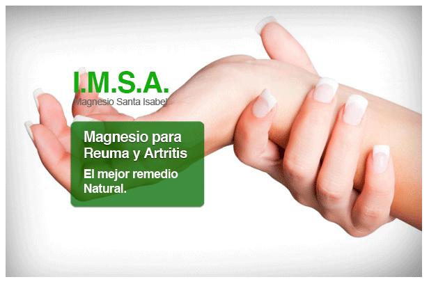 Magnesio para la artritis y reuma