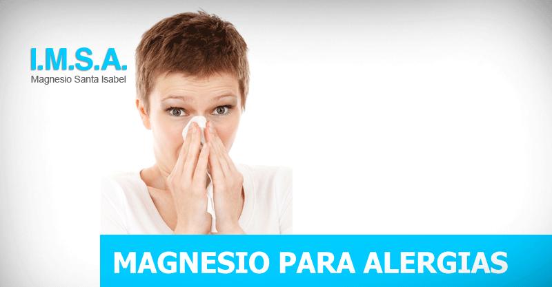 Magnesio para alergias