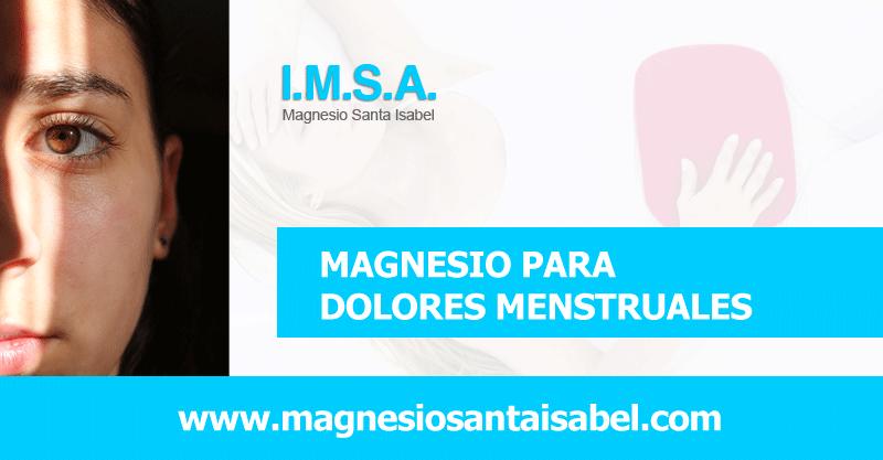 Magnesio para menstruación
