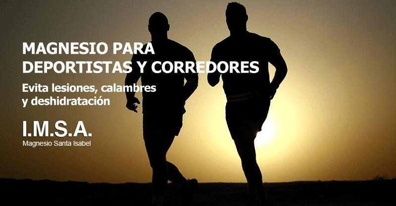 Magnesio para deportistas y corredores
