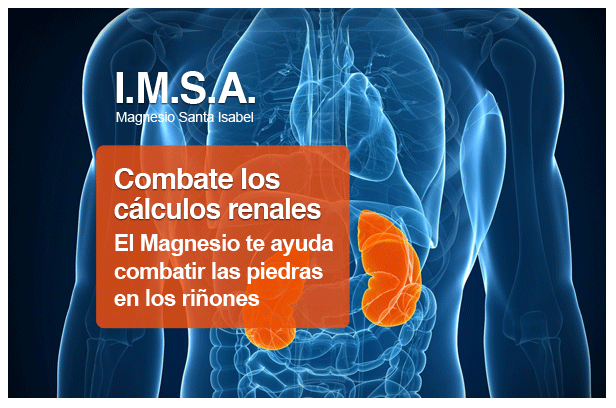 Magnesio par piedras en riñón