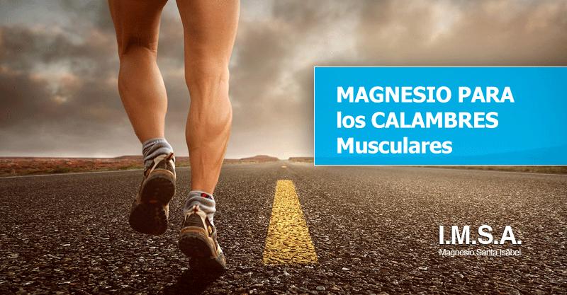 Magnesio para los calambres musculares de deportistas y corredores