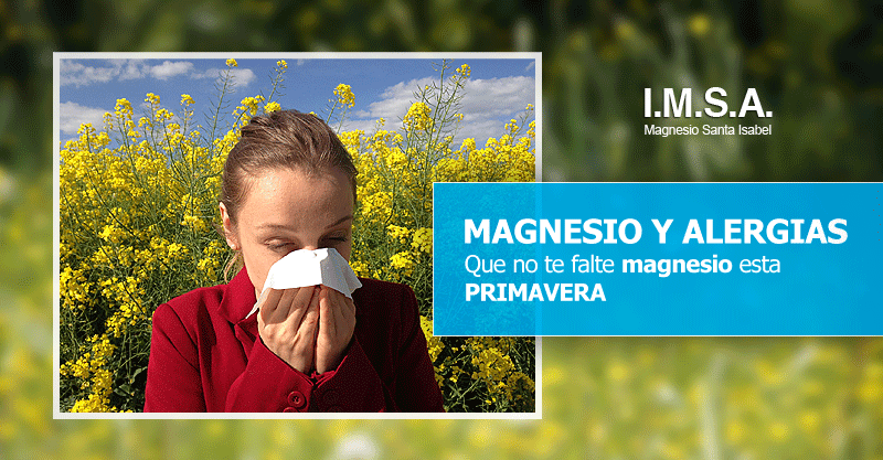 Magnesio y alergias alergicos primavera